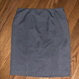 KASPER gray pencil skirt 8P